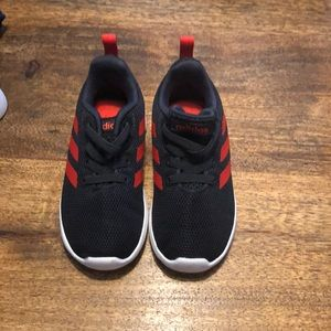 Adidas black and red sneakers like new